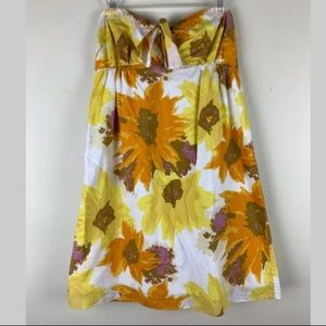 J CREW Strapless Tie Front Floral Sundress
